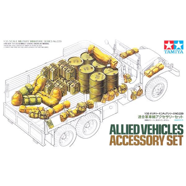 Accessori per veicoli alleati – Set miniature militare TAMIYA
