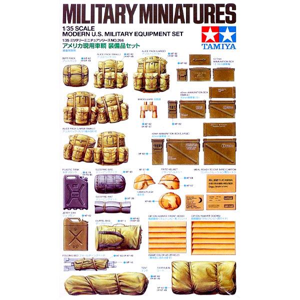 Equipaggiamento Militare USA Moderno per Miniature