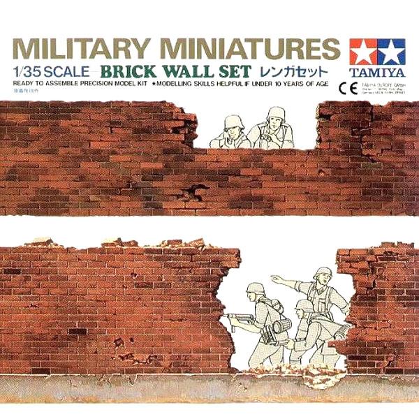 Muro in mattoni tamiya scala 1/35 per diorama