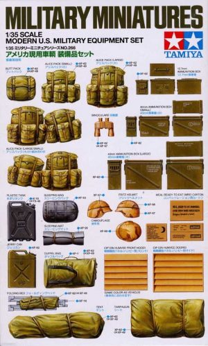 Modern US Military Equipment Set scala 1/35