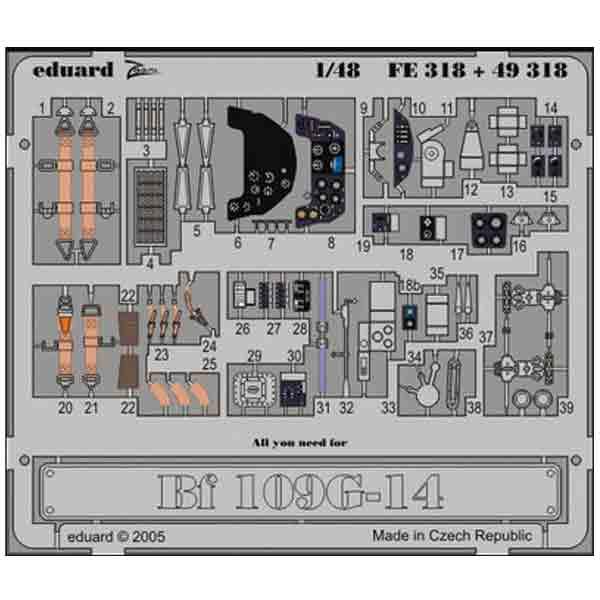 Accessori BF109 Hasegawa