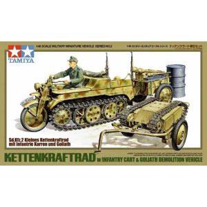 Trasporto Kettenkrafyrad con trasporto rifornimenti e Goliath 1-48 2