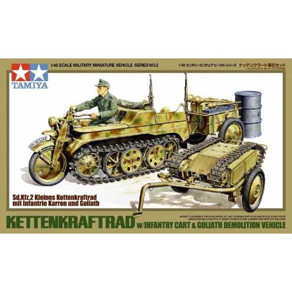 Trasporto Kettenkrafyrad con trasporto rifornimenti e Goliath 1-48