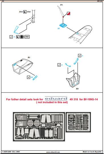 Istruzioni Accessori BF109 Hasegawa