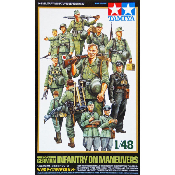 german infantry on maneuvers wwII tamiya scala 1-48