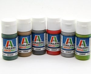 Colori Italeri acrilici per aerografo