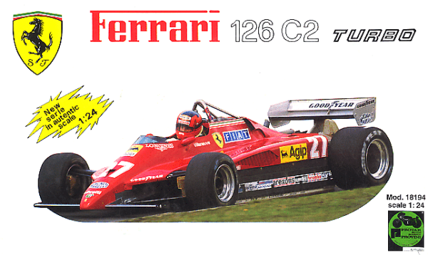 Ferrari 126 C2 Turbo scala 1/24