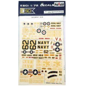 Decal Sikorsky S55 scala 1/72 esci
