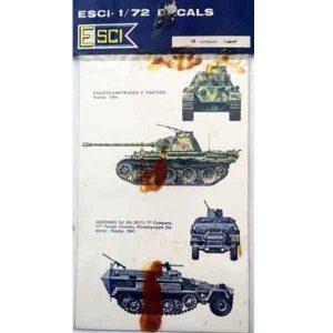 Decal Tank Germany scala 1/72 esci
