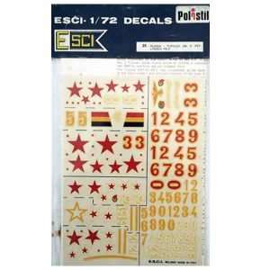 Decal Tupolev SB2 scala 1/72 esci