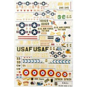 Decal USAF in scala 1/72