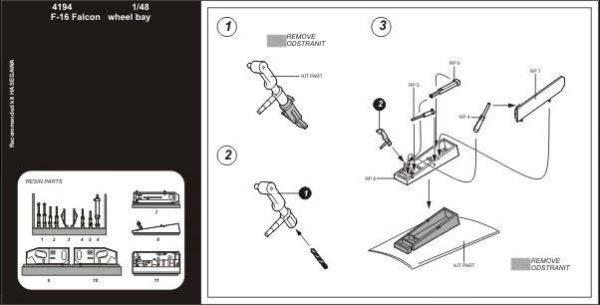 Aires 4194 Dettagli in resina F16 scala 1/48