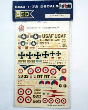 Decal F 84 Thunderstrak scala 1/72 esci