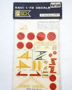 Decal Mitubischi KI 109 scala 1/72 esci