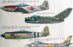 Decal Korea War in scala 1/72