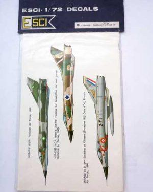 Decal Mirage III scala 1/72 Esci