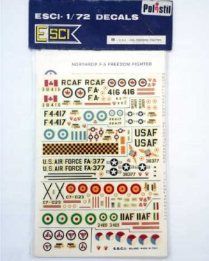 Decal F 5 freedom scala 1/72 esci
