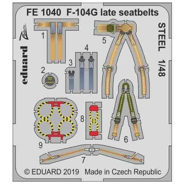F-104G fotoincisioni Eduard 1/48