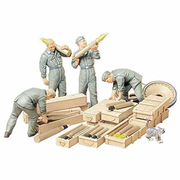 Soldati tedeschi carica munizioni tamiya scala 1:35