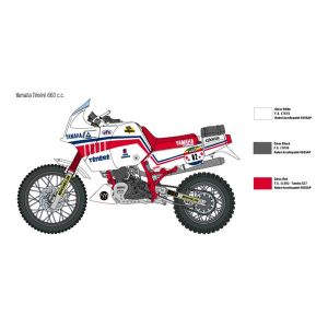 Yamaha Tenere 660 cc italeri 1-9 2