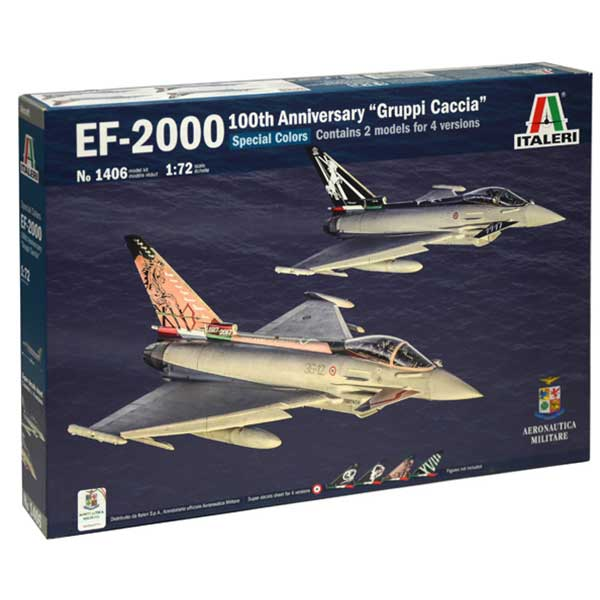 eurofighter typhoon 100th italeri scala 1:72