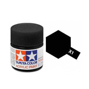 Colore Tamiya X 1 nero lucido