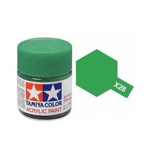 Colori Tamiya Serie X28 verde lucido