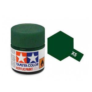 Colore Tamiya Serie X 5 verde lucido