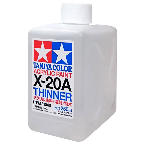Tamiya X-20A THINNER diluente acrilico 250 ml