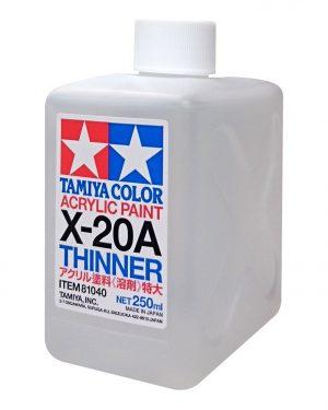 Tamiya diluente acrilico 250 ml X-20A THINNER