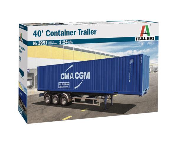 container 40' trailer rimorchio italeri scala 1:24