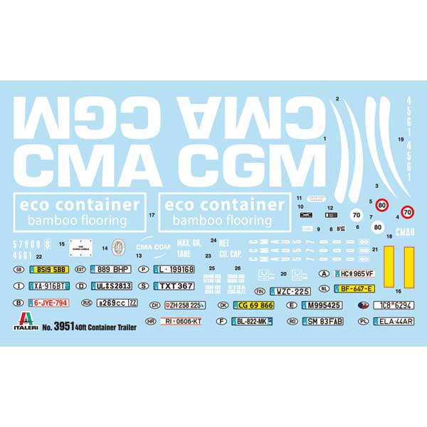 ITALERI RIMORCHIO CONTAINER 40′ TRAILER 2