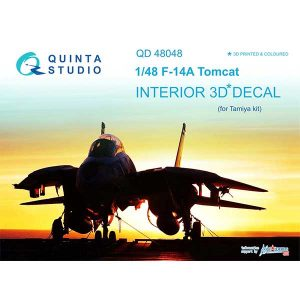 Decal 3D cockpit F-14A Scala 1:48 quinta studio