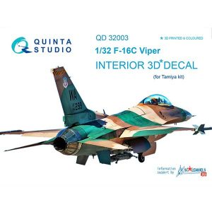 Decal 3D cockpit F-16С Scala 1:32 quinta studio
