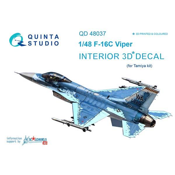 Decal 3D cockpit F-16С