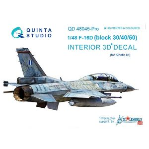 Decal 3D cockpit F-16D Scala 1:48 quinta studio