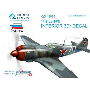 Decal 3D cockpit La-5FN Scala 1:48 quinta studio