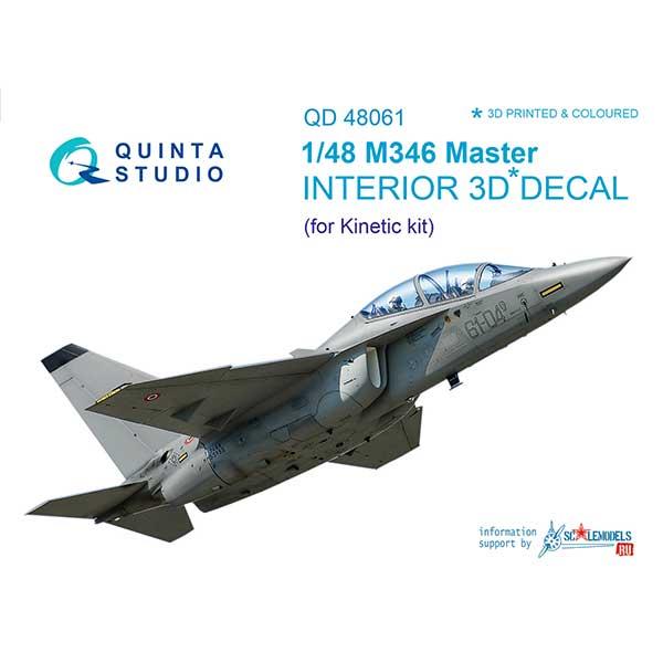 Decal 3D cockpit M346 scala 1:48