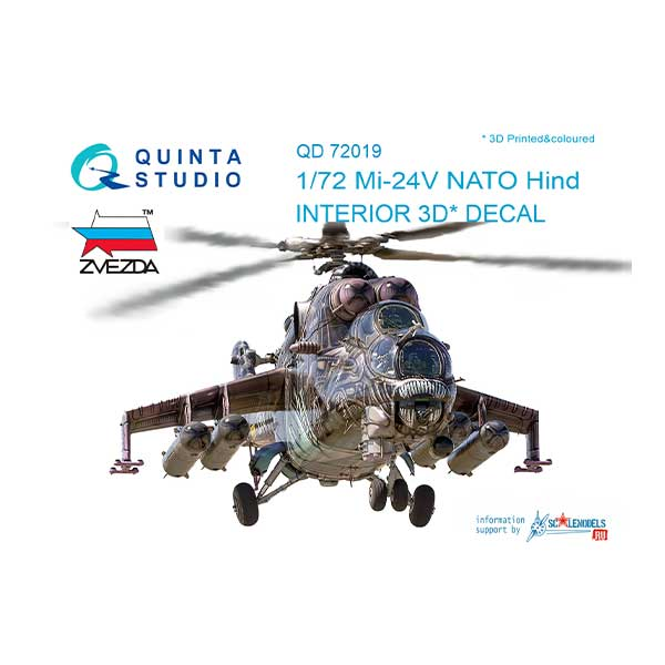 Decal 3D cockpit Mi-24V NATO Scala 1:72