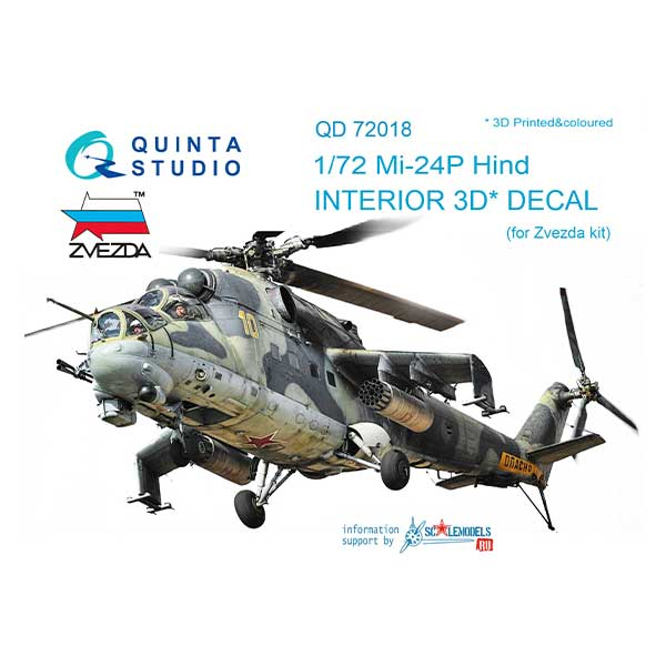 Decal 3D cockpit Mi-24P Scala 1:72 quinta studio