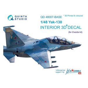 decal 3d cockpit yak-130 scala 1:48 quinta studio