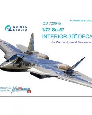 decal 3d cockpit su-57 scala 1:72 colore grigio quinta studio