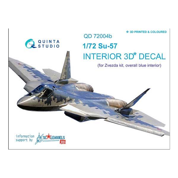 decal 3d cockpit su-57 scala 1:72 colore grigio