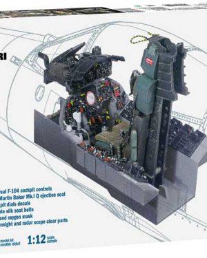 f-104 cockpit italeri Codice 2921 scala-1:12