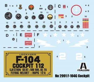 f 104g cockpit italeri scala 1:12
