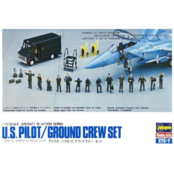 us pilot-ground crew set scala 1/72