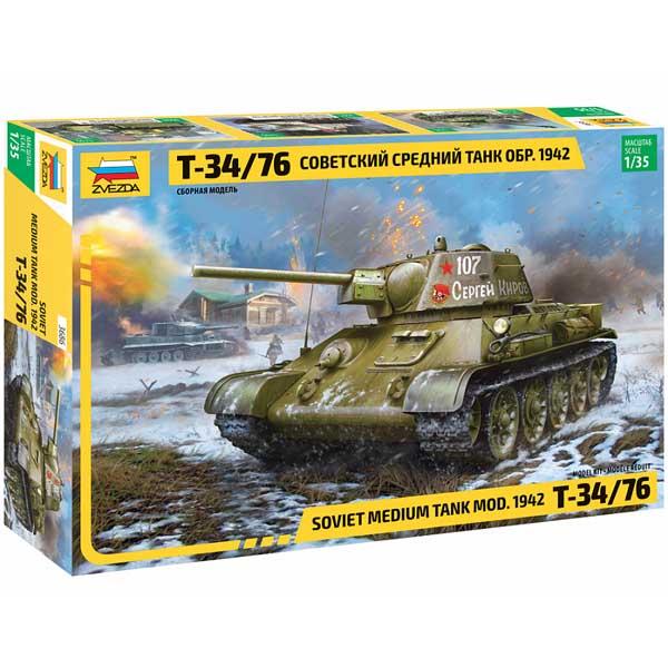 ZEVZDA T-34-76 mod. 1942 g. Scala 1-35