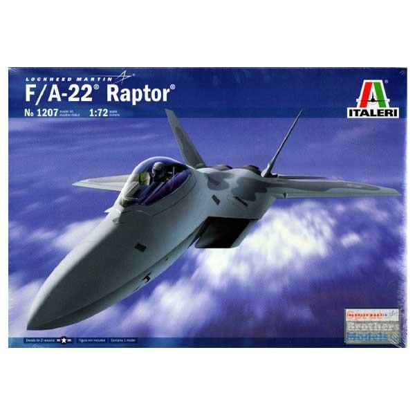 f-22 raptor italeri scala 1/72