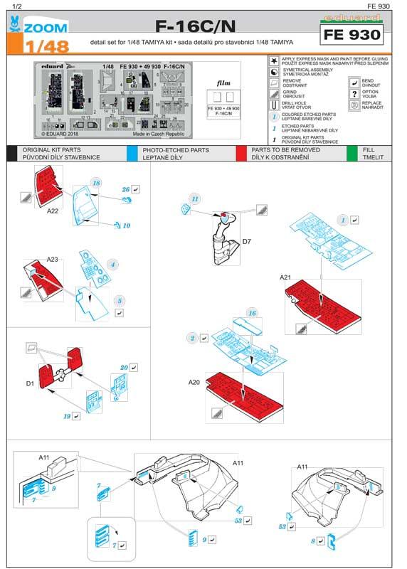 fotoincisioni-eduard-f-16-fe930-istruzioni