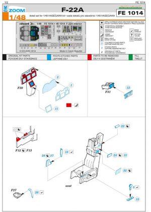 fotoincisioni eduard f-22 ss1014